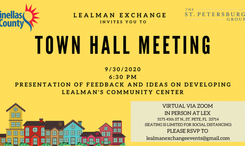 Town Hall Meeting at LEX Sept. 30th